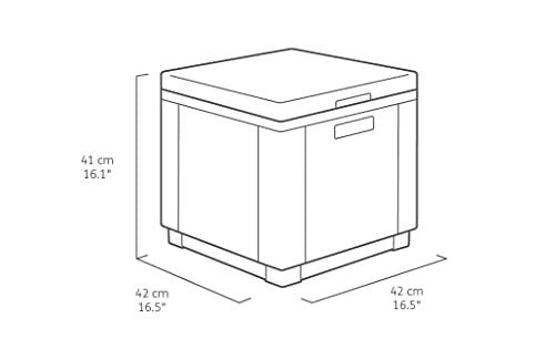 Kühlbox/Beistelltisch Ice Cube, grau (graphit), 40 L - 2