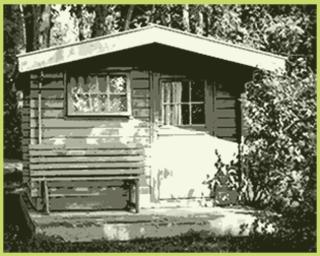 gartenhaus 28 mm
