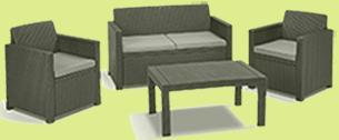 lounge set polyrattan