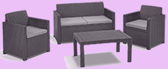 loungemöbel polyrattan