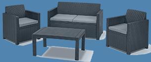 polyrattan couch