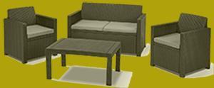 polyrattan dining lounge
