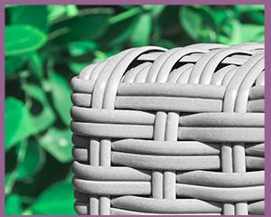 polyrattan gartenmöbel grau