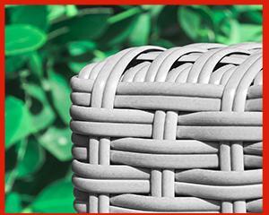 polyrattan gartenmöbel weiß