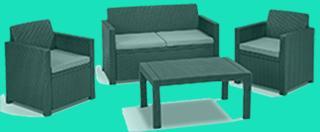polyrattan lounge set