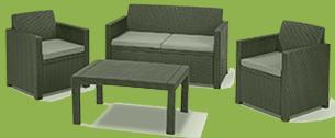 polyrattan lounge set günstig
