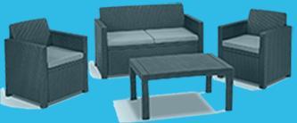 polyrattan sofa