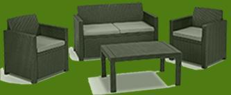polyrattan sofa ausziehbar