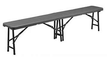 Sitzbank klappbar - Moderne Rattan-Optik-190422121215